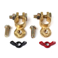 Brass Battery Terminal Set with Coated Wing Nut for Boat Car Truck Van Top Post