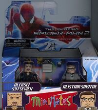 Marvel Minimates Amazing Spiderman 2 Aleksei Sytsevich and Alistair Smythe MINT