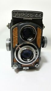 Yashica-44 w/60mm f/3.5 Yashikor lens.Very Clean.Works @ All Speeds.