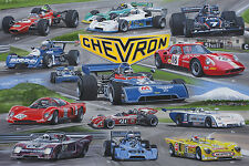 Chevron Racing Cars Print by Andrew Kitson