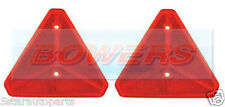 2x SCREW ON REAR RED REFLECTIVE TRIANGLE REFLECTOR IFOR WILLIAMS TRAILER CARAVAN