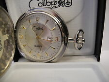 Hands & Numbers New Reduced Colibri Silvertone Pocketwatch Date W/Goldtone