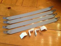 Old Vintage Metal Patio Porch Glider Straps Hanger 4 Feet Protector Restoration