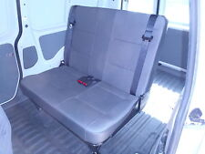 VW Caddy Double Rear Seat with Inbuilt Seat Belts on Low Frame All About Vans