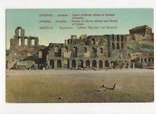 Athens Acropolis Theatre of Herode Atticus Greece Vintage Postcard 194a