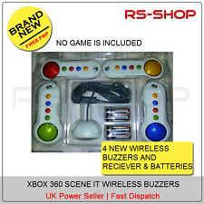 New XBOX 360 Wireless Big Buzzers & Receiver Button Pad -NO GAME Supplied
