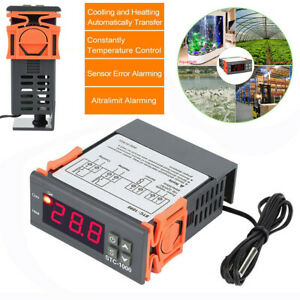 12V/24VDC 220VAC STC-1000 Digital Temperature Controller Thermostat w/NTC