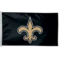 NEW ORLEANS SAINTS LOGO WINCRAFT 3x5ft flag superior quality GENUINE NFL Lic us