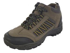 Mens DEK Walking Trekking Hiking Ankle Boots Khaki Brown 6 7 8 9 10 11 12 13