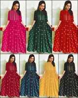 Women Indian Pakistani Kurti Kurta Rayon Designer Anarkali Kameez Fancy Tops IL