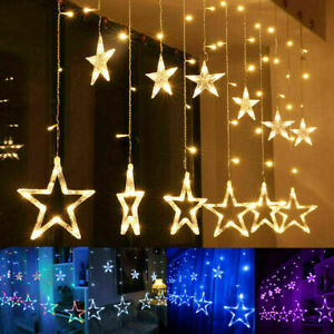 LED Twinkle Star Fairy String Lights Curtain Window Festival Party Weding Decor