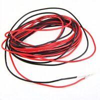 2 x 3 M 22 Gauge AWG Silikon-Gummi-Draht-Kabel Rot Schwarz Flexibel GY