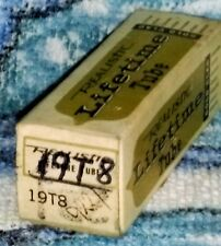 NOS Realistic Lifetime Goldclad 19T8 (HABC80) vacuum tube radio TV valve, TESTED