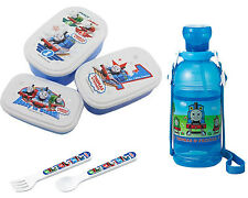 Children's Water Bottle, Three Lunch Box Set with Spoon and Fork