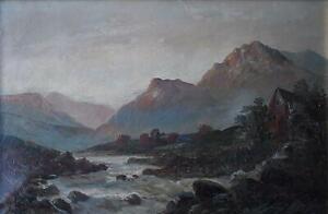 Wild Scottish Highlands Landscape Oil Painting Francis E Jamieson c1928
