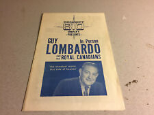 Vintage Guy Lombardo and the Royal Canadians Concert Pamphlet