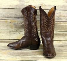 38cafba44 Nocona Cowboy Boots Brown Leather Mens Size 9 EE Extra Wide Width Western  VTG