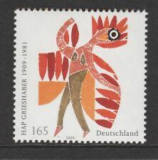 Germania 2009 Helmut Andreas Paul (Hap) Grieshaber SG 3586 Gomma integra, non linguellato