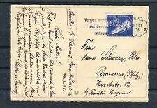 Postkarte DDR Mi.-Nr. 246 EF Abfahrtslauf Gera-Pirmasens