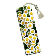 Field of White Daisies Printed Bookmark with Tassel