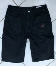 MENS EVISU BLACK SHORTS. SIZE XS/S (SIZE 29)