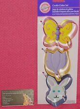Spring, Easter,3 pc Cookie Cutter Set, Bunny,Tulip,Wilton,Multi-Color, 2308-1216