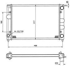 NRF Motorkühler Wasserkühler 529505 für VW GOLF SCIROCCO CORRADO Aluminium 1 155