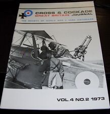 CROSS & COCKADE GREAT BRITAIN JOURNAL VOL 4  No 2 1973 XV SQN RFC/RAF NAVAL 8