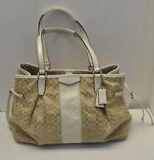 Coach Signature Python Drawstring Carryall Bag F31308 Jacquard Leather Handbag