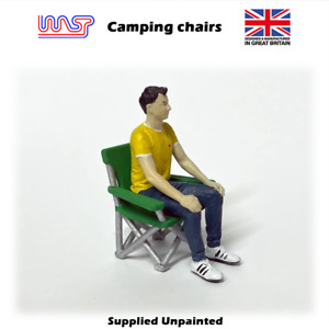 1/32 scale Camping chairs - Slot track, Scenery, Camping, Spectator