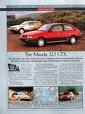 1988 Mazda 323 GTX Turbo 4wd - 2-page Advertisement Print Art Car Ad J761