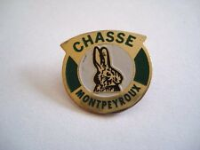 PINS RARE CHASSE MONTPEYROUX GIBIER LAPIN wxc 31