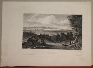 NEW YORK CITY UNITED STATES 1852 MEYER ANTIQUE ORIGINAL STEEL ENGRAVED VIEW