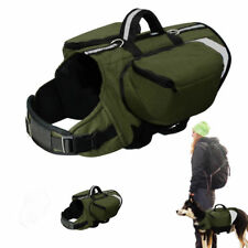 Service Large Dog Harness Saddle Bags Backpack for Big Dogs Outdoor Travelling