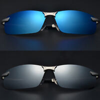 Mens Polarized UV400 Mirrored Sunglasses Pilot Driving Outdoor Glasses Eyewear