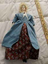 "17"" Colonial Doll Porcelain Head Hands Feet"