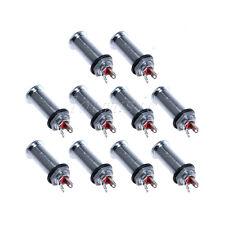 10*Jack Guitar Chrome Cylinder Flush Mount Output Jack For Ibanez