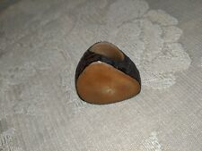 Vintage Artisan Wood Nuts Ring
