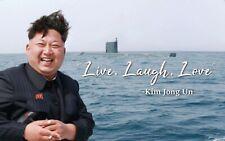 Kim Jong Un Live Laugh Love Banner Flag 3x5Feet College Dorm Decor 2021 Family