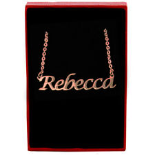 Rebecca - Rose Gold Name Necklace - Personalized Jewellery - Pendants Birthday