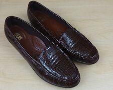 SAS Simplify Tripad Comfort 8.5 Slim (AAA) Brown Crocodile Shoes