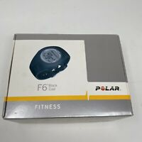 POLAR F6 FITNESS WATCH WITH CHEST STRAPS BLACK HEART RATE CALORIES BPM $99