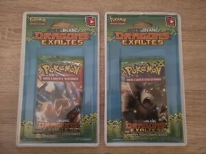 Lot de 2 booster Pokemon sous blister Noir et Blanc Dragons Exaltés