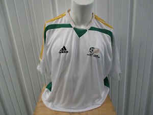 VINTAGE adidas SOUTH AFRICA NATIONAL TEAM 2XL SEWN GREEN JERSEY 2005/06 KIT