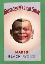 More details for gossages magical soap makes black white advertising  pc unused ref m116