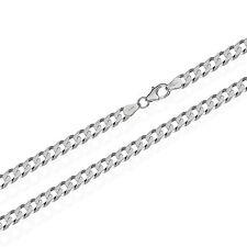 echt 925er Sterling Silber Kette PANZERKETTE 6x diamantiert Halskette MASSIV Neu