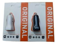 Twin USB Fast Car charger for iPhones, IPAD, Samsung, BB, HTC & SONY