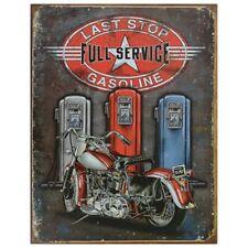 Vintage Art 'Last Stop' Decorative Tin Sign Full Of Good Old American Nostalgia!