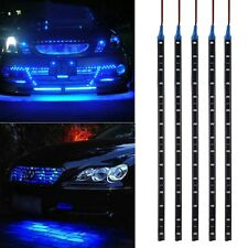 5PCS 15LEDS 30cm Car Motor Vehicle Flexible Waterproof Strip Light Blue 12V New