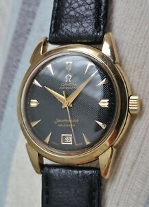 Vintage Swiss Omega Seamaster 'bumper' automatic watch, 14k solid gold, 353-2627